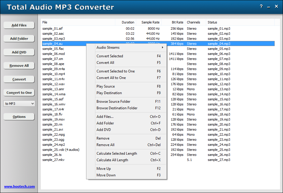 Total Audio MP3 Converter
