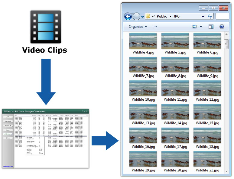 Video to Picture, Video to Image - Capture/Get/Take Still